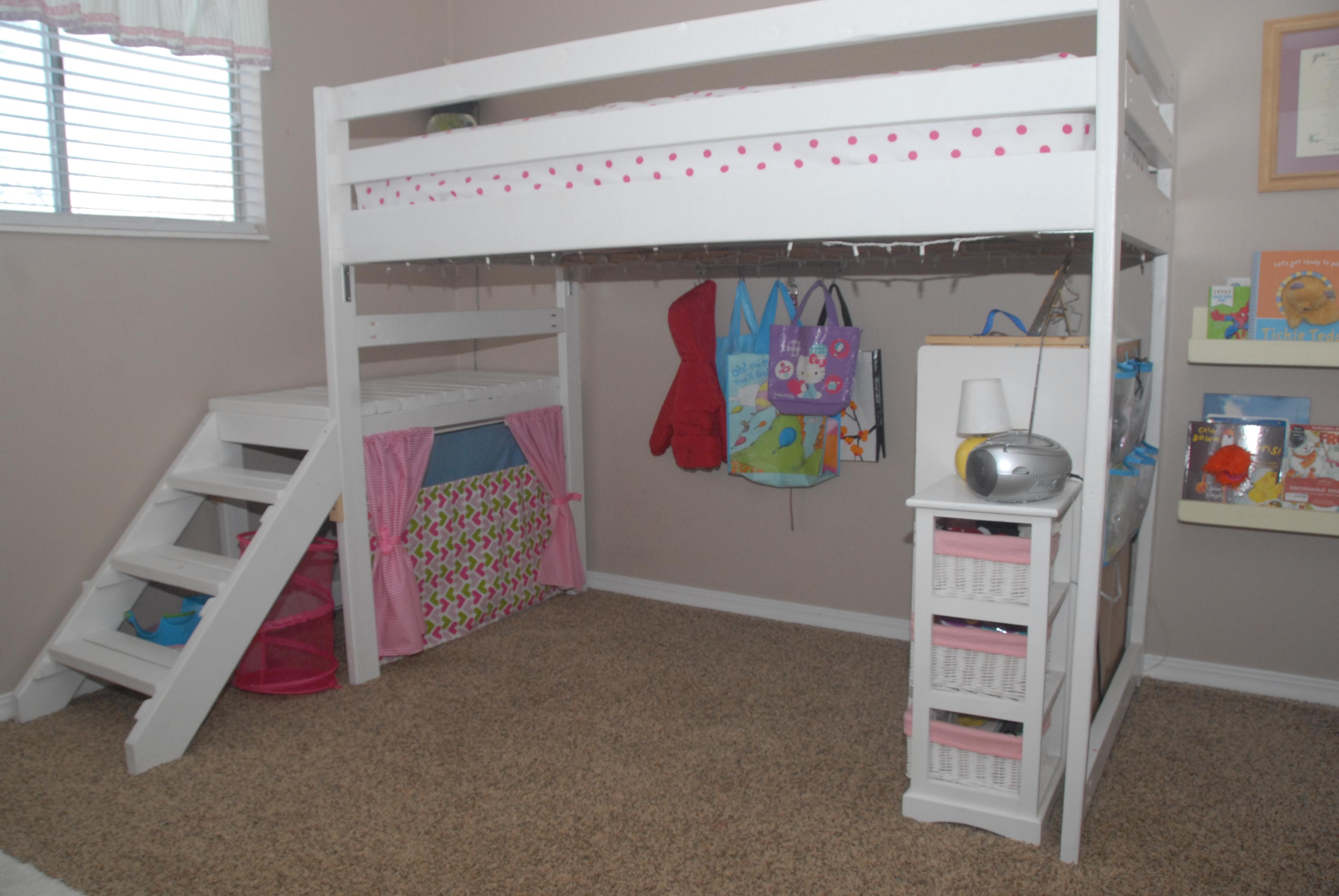 Diy Kids Loft Bed With Stairs Novocom Top